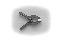 Plastic clamp Royalty Free Stock Photo