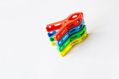 Plastic clip Royalty Free Stock Photos