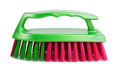 Plastic clothes brush with multicolored bristles Royalty Free Stock Images