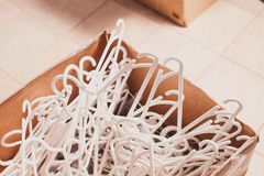 Plastic clothes hangers Stock Photography
