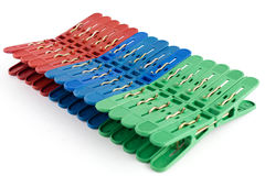 Plastic clothes peg Stock Photography