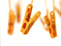 Plastic Clothes Peg. On white background Royalty Free Stock Photography