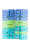 Plastic Clothes Pegs Royalty Free Stock Photo