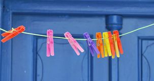 Free Plastic Clothes Pegs Royalty Free Stock Photography - 55556037