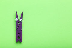 Plastic clothespin Stock Photography
