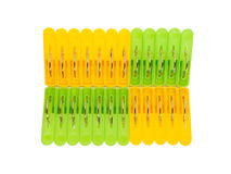 Plastic clothespin Stock Images