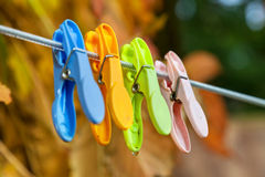 Plastic Clothespins Stock Photos