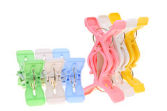 Plastic clothespins Stock Image