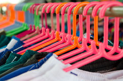Plastic Coat hanger Royalty Free Stock Images
