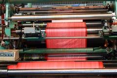 Plastic coating machine royalty free stock photos