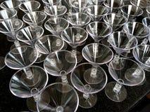 Plastic cocktail glasses Stock Photos