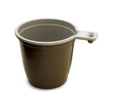 Plastic coffee cup Stock Image