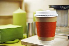 Plastic Coffee Cup Royalty Free Stock Photography