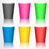 Plastic coffee cup Stock Photo