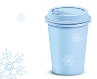 Plastic coffee cup with lid Stock Photography