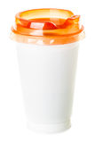 Plastic coffee cup Royalty Free Stock Photo