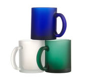 Plastic coffee cups Stock Image