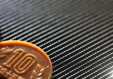 Plastic coin scene. royalty free stock images