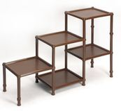 Plastic collapsible furniture. A convenient shelf for things. Furniture that will be pampered. Shelves, shelves, stands Royalty Free Stock Photography