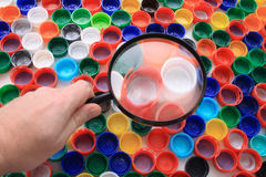 Plastic color background Stock Image