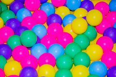 Plastic color balls. Royalty Free Stock Photo
