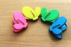 Plastic color clip Stock Photos