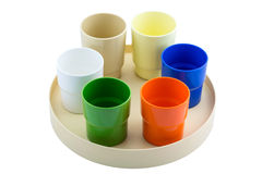 Plastic color cup Royalty Free Stock Image