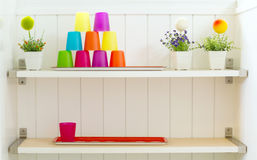 Plastic color cup Royalty Free Stock Photos