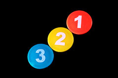 Plastic color number Royalty Free Stock Photos