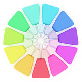 Plastic Color pallete. Plastic Color pallet on white background Stock Image