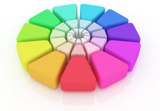 Plastic Color Wheel. On white background Royalty Free Stock Photography