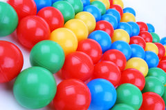 Plastic colored balls Royalty Free Stock Photography