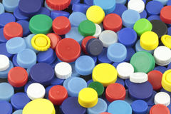 Plastic colored caps 1 Royalty Free Stock Photo