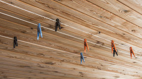 Plastic colored clothes pegs Stock Photography