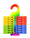 Plastic colored clothespins Royalty Free Stock Photo