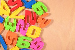Plastic colored numbers Royalty Free Stock Image