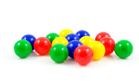Plastic colorful balls Royalty Free Stock Images