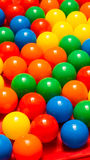 Plastic colorful balls Stock Photos