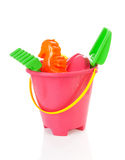 Plastic colorful beach toys Stock Image