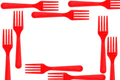 Plastic colorful forks Royalty Free Stock Image