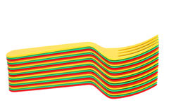 Plastic colorful forks Stock Image