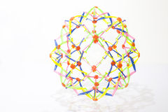 Plastic  colorful network knot Stock Images