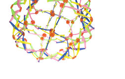Plastic  colorful network knot Stock Photos