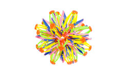 Plastic  colorful network knot Royalty Free Stock Photography