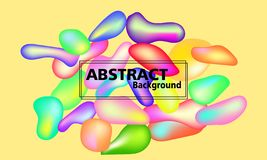 Plastic colorful shapes. Abstract background vector illustration