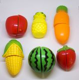 Plastic vegetables and fruits Royalty Free Stock Photography