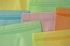 Plastic compact disc bags Stock Image