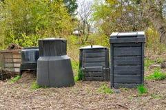 Plastic Compost Bins Stock Photography