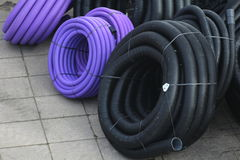 Plastic Conduit Royalty Free Stock Images