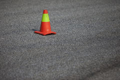 Plastic cone on road Royalty Free Stock Image